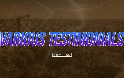 Various Testimonials
