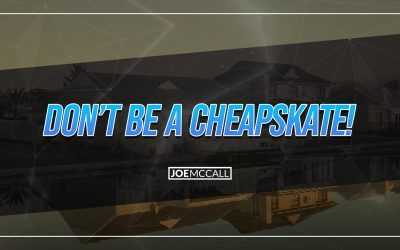 Don't be a cheapskate!