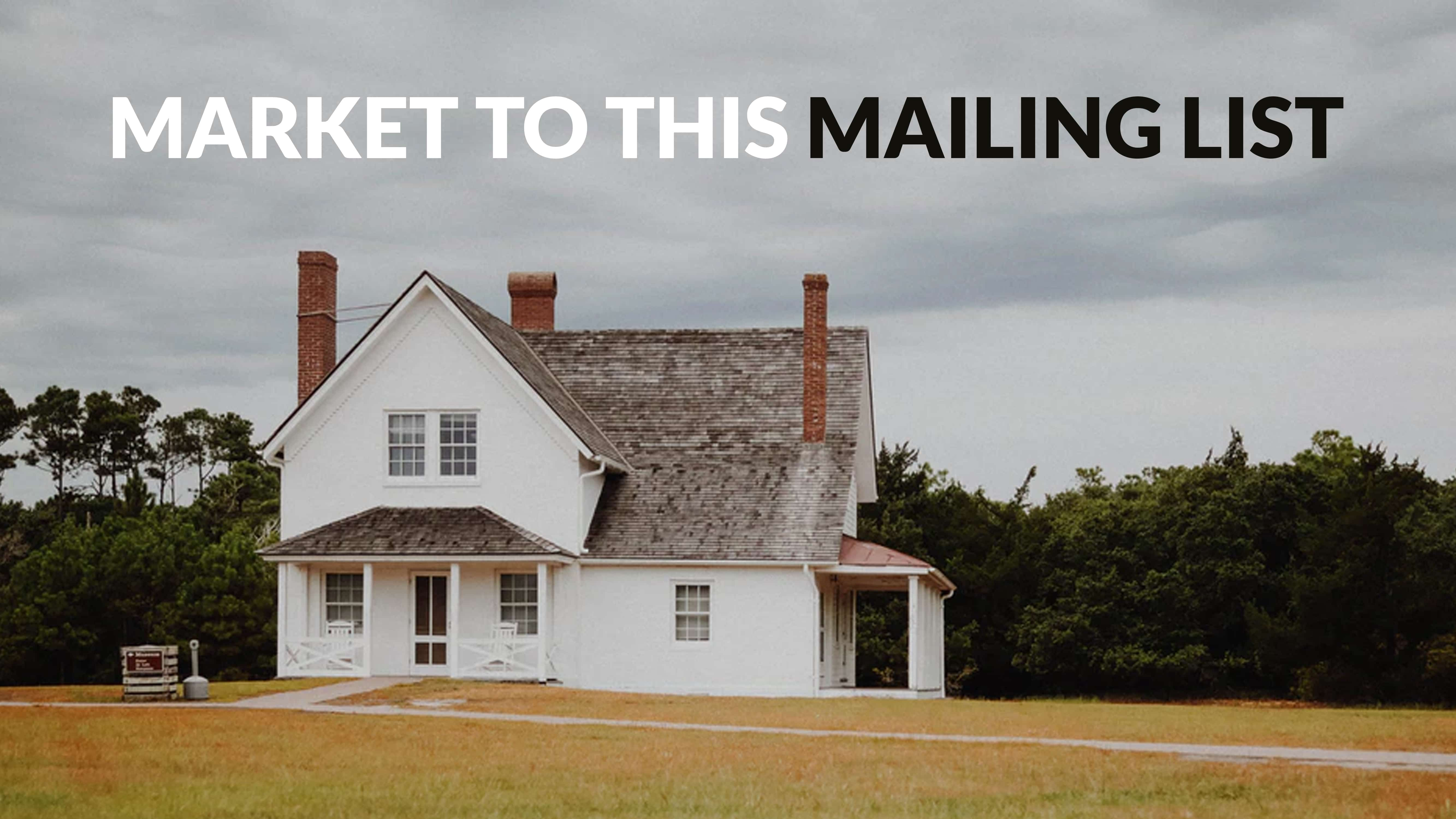 Market to this mailing list