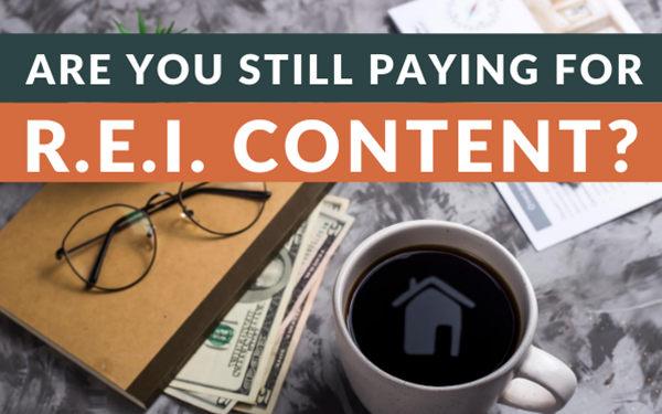 Are you still paying for REI content?