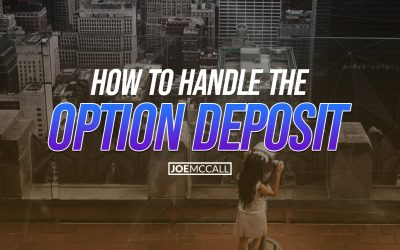 How to handle the option deposit